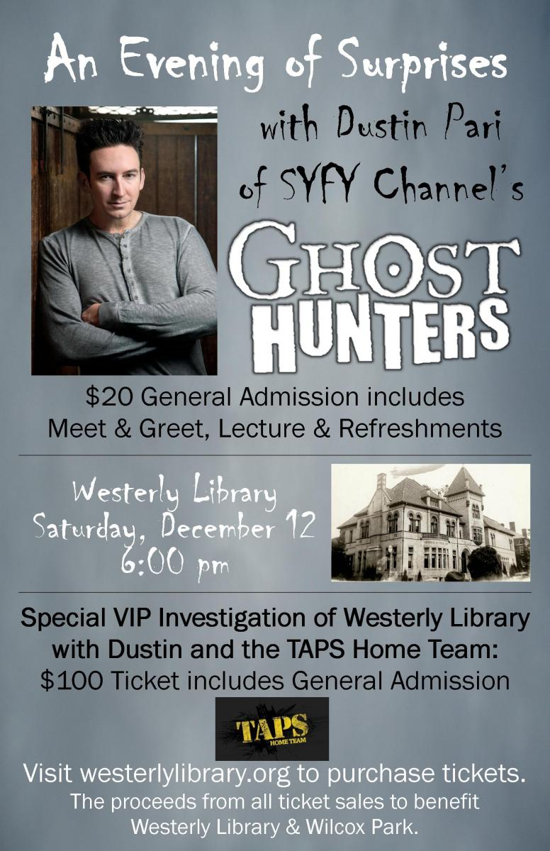 An evening of surprises with dustin pari of syfy channels ghost ticket order form kristyandbryce Images