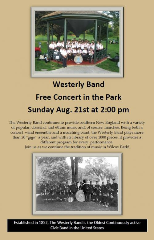 Westerly Town Band - Concert in Wilcox Park | Westerly Library